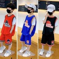 Kids roupas conjuntos meninos meninas futebol tracksuit outfits bebê jerseys shorts verão casual sportswear crianças sapatos de basquete 2021