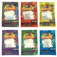 홀로그램 Dank Gummies 500mg 홀로그램 비바함 가방 포장 거미 가방 냄새 가늠자 mylar 패키지