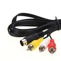 Cavo video AV RCA AV RCA di 1.8m retro-bit per SEGA Genesis 2 3 II III Cavo di connessione 3RCA a 9 Pin Nichel Plug Cables Cables