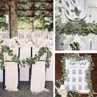 2m faux eucalyptus зелени гирлянды плетеные листья ротанга искусственные фальшивые растения фон домашний стол арка свадебное украшение декоративное flowe