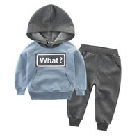 Kids Tracksuit Set Boys Girls Boutique Clothing Spring Fall Designer Casual Clothes Children For 1T-10T Yellow Blue Green Hoodies Navy Grey Black Trousers