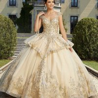 Princess Quinceanera Dress 2021 Ball Cap Sleeve Appliques Sequins Beads Tiered Backless Party Sweet 16 Gown Vestidos De 15 Años