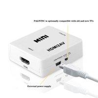 AV / RCA CVBS zum HDMI-kompatiblen Konverter 1080P-Video-Mini-AV2HDMI-Adapter für HDTV-Projektor-Set-Top-Box