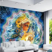 Wallpapers European Myth Pearl Mussel Goddess Danish Mythology Beautiful Color Mural For Living Room 3D Wall Papers Home Decor