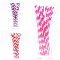 Packaging Dinner Service PLAYGUYS 25Pcs Lot Multicolored Drinking Paper Straws For Wedding Birthday Decoration Kids Adult Party Supplies