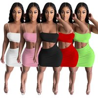 Plus size S-2XL Women club Dresses sleeveless bodycon SKirts solid color one-piece dress Sexy Summer Clothing trendy miniskirt skinny skirtss night clubs wear 4865