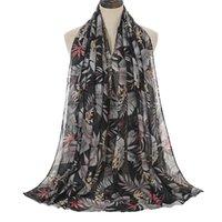 Bufanda de la playa de los hilos balineses para las mujeres Voile Flower Impreso Playa Bufanda de las mujeres Moda Nuevo estilo de verano 2021 1 pieza