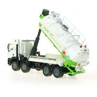 合金廃水輸送収集トラックキッズのおもちゃエンジニアリング車両のダイキャストKDW 150シミュレーションタンクゴミ水保管