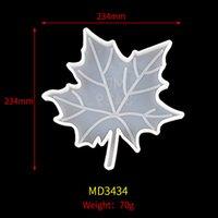 DIY artes manual folha coaster série de Natal de cristal molde de gota de silicone resina maple artesanato ferramentas atacado ccf6560