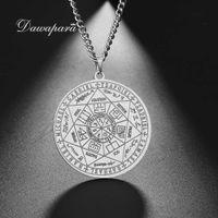 Kolye Dawapara 7 Archangels Mühür Zincirleri Pentagram Sihirli Mascotte Muska Şanslı Charms Koruma Süpernatural Tılsım Zinciri