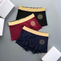 Designer di alta qualità Designer Boxer Fashion Mandartants Sexy Classic Men Boxer Casual Shorts Biancheria intima Biancheria intima traspirante 3pcs con scatola