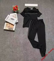 SS Women designers clothes Women's Tracksuits luxury Two Piece Pants Set Outfits Letter solid short sleeve trousers sports suit Hoodies