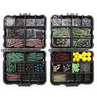 189pcs / Box Tragbare Angelgerätestecker Box Zubehör Kit Set Für Karpfen Köder Ködereis Eis Winter Accessoire Werkzeugsets