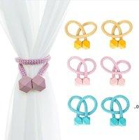 Magnetische Vorhang Tieback Polen Schnalle Clip Polyester dekorative Vorhänge Tiebacks Wohnaccessoires FWB9554