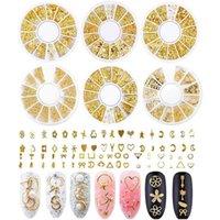 Nail Art Decorations Decoration Jewelry Xingyue Rivet Metal Ring Mixed DIY Stickers Small Round Box Polish
