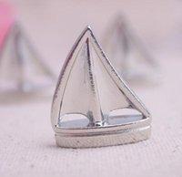 Thema Platz Karteninhaber Segelboot Silber Strand Tischnummer Karten Clips Bild Name Frame Hochzeit Liefert CCF8666
