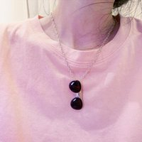 Pendant Necklaces Hip Hop Punk Style Sunglasses Glasses Necklace For Men Women Titanium Steel Party Jewelry Gift