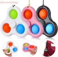 Simple Dimple Fidget Toys Party Kids ADHD Anxiety Stress Relief Sensory Finger Play Autistic Children Adults Push Pop Bubble Girls Boys Autism Hand