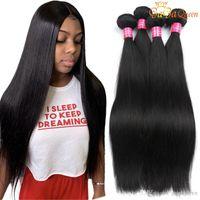 8A Unprocessed Brazilian Straight Virgin Hair 4 Bundles Gaga Queen Brazilian Hair Double Weft 100% Human Hair Weaves Dyeable
