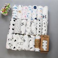 2 طبقات مناشف الحمام الشاش طبقة مزدوجة الوليد الطفل التقميز منشفة التفاف الشاش تكييف الهواء بطانية