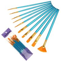 Watercolor gouache long Mao acrylic oil painting hook line pen 10 pack art brush singleFE71