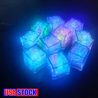 Mini LED Ice Cube Multi Color Changing Flash Lights Crystal Cubes voor Party Wedding Event Bars Chirstmas Halloween Decoraties