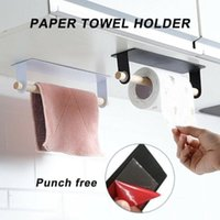 Tissue Boxes & Napkins Portable Adhesive Paper Towel Holder Under Cabinet For Kitchen Bathroom Home 2