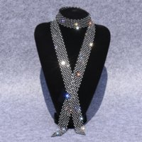 LCO Square Navy Dancediamond 여성용 댄스 액세서리 스팽글 활 Tiestrend 빛나는 다이아몬드 나비 타이 트렌드