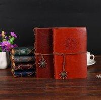 Âncoras Pirata Notebooks Jornal Notebook Diário Do Vintage Bloco de Couro Capa de Couro Diário 10 * 14.5cm DWA5062