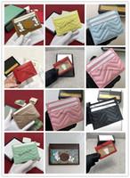 2021 Luxurys Designer Karten Taschen Männer und Frauen Clip Kreditkarten Dollar Brieftaschen, Taschenbeutel, Schlüsselbeutel, Wechselgeldbeutel 197