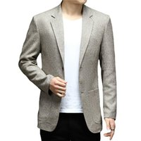 Men's Suits & Blazers Blazer Spring Men Casual Jacket Trend Solid Business Slim Fit Suit Knitting Coats Male Clothing
