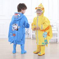 Плащ Детские мальчики и девочки Детский сад Пончо Baby Grokbag Schoolbag Prodbaging Rain Gear 12