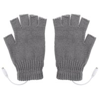 Ski Gloves 1 Pair USB Heated Mitten Unisex Winter Hands Warmer Fingerless