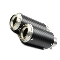 51mm Universal Motorcycle Exhaust Pipe Muffler Real Carbon Fiber SC GP Racing Project Escape Moto Scooter System