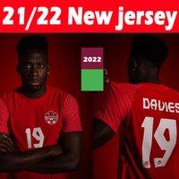Lates 21/22 Kanada Futbol Formalar Ulusal Takım Eve Kaviler 2021 2022 Davies David Larin Cavallini Laryea Millar Hoilett Erkekler Jersey Futbol Gömlek Tay S-2XL