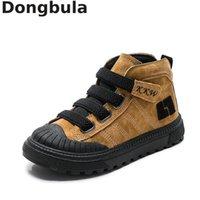 Детские ботинки для мальчиков кроссовки зимние новые плюшевые теплые девушки сапоги мода дети Мартин сапоги натуральная кожа школьные обувь LJ200903