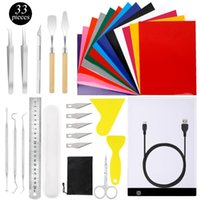 Pcs Craft Weeding Tools Set With A4 LED Light Box Heat Transfer Sheets Silhouettes Cameos Lettering Gift Wrap