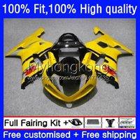 Injection Mold Fairings For SUZUKI GSX-R1000 GSXR1000 K2 00-02 Bodywork 24No.6 GSXR 1000 CC 1000CC 00 01 02 Yellow black GSXR-1000 2000 2001 2002 Motorcycle OEM Bodys