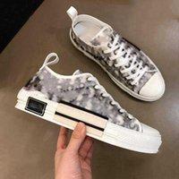 Dior b23 shoes 스니커즈 어린이 신발 2021 패션 높은 커플 스타 같은 스타일 낮은 상위 클래식 캔버스 남성과 여성 캐주얼 크기 35-46