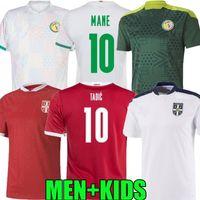 2021 2022 Serbia Senegal Soccer Jersey National Team Home Away Diatta 21 22 Tadic Sergel Mitrovic Mane Koulibaly Mendy Kolarov Sarr Niang Uniformi di calcio Camicie