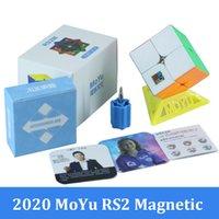 2021 moyu rs2 م المغناطيسي 2x2x2 سحرية السرعة مكعب 2x2 ماجيكو كوبو rs2m rs3m rs4m المغناطيسي مكعب لغز لعب للأطفال