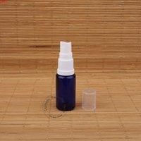 10 قطعة / الوحدة 15 ملليلتر الزجاج الأزرق فارغة زجاجة زيت الضروري 1/2 أوقية وعاء عطر صغير إعادة الملء البخاخة أبيض كاب swary vialgoods