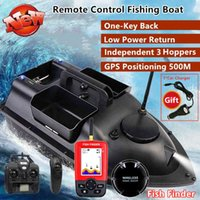 GPS Smart Return Fish Finder RC Fishing Boat Cruise GPS Positioning 500M Independentt Control 3 Hoppers LCD Screen RC Bait Boat X0522