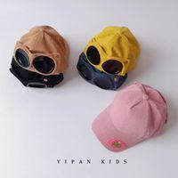 아기 모자 아이 모자 소년 소녀 야구 모자 어린이 액세서리 따뜻한 가을 겨울 선글라스 파일럿 안경 첨단 모자 B7522
