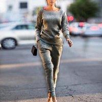 2 조각 드레스 Cysincos 여성 조깅 2 피스 패션 캐주얼 간단한 매일 매일 세트 Tracksuit 후드 스웨터 스포츠 착용