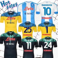 2021 Napoli Soccer Jersey Nápoles Mertens Insigne Maradona Camisa de Futebol Especial Versão 20 21 Koulibaly Meret Camiseta de Fútbol Maillot Foot Camisa