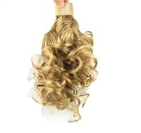 """063 Synthetic Ponytail Long Straight Hair 16"""" 22"""" Clip Ponytail Hair Extension Blonde Brown Ombre Hair Tail With Drawstring"""