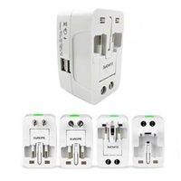 Bouchons d'alimentation intelligente Fiche électrique Adaptateur Adaptateur Voyage international Universal USB Charging Convertisseur UE UK US AU