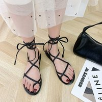 Women Fashion Sandals Gladiator Cross Strap Flat Casual Comfortable Clip Toe Beach High Quality Female Slippers