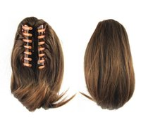"""018 Synthetic Ponytail Long Straight Hair 16"""" 22"""" Clip Ponytail Hair Extension Blonde Brown Ombre Hair Tail With Drawstring"""